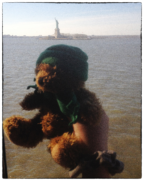 Green Bear and the Statue of Liberty
