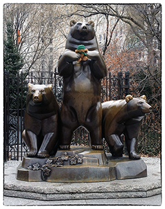 Green Ted and Group of Bears, New York